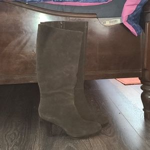 Spiegel Ladies Brown Suede Knee Boots